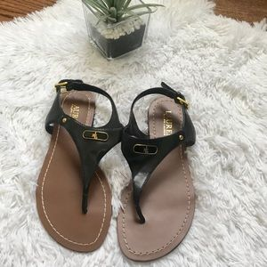 Lauren Ralph Lauren Adrian leather thong sandals